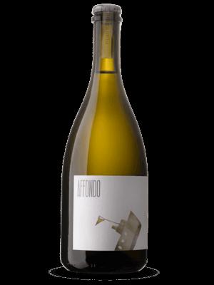 Bottiglia di vino bianco frizzante Affondo a rifermentazione naturale in bottiglia prodotto da Cantina Barchessa Loredan a Volpago del Montello.