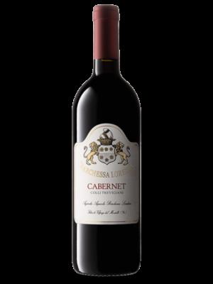 Bottiglia di vino rosso Cabernet IGT Colli Trevigiani prodotto da Cantina Barchessa Loredan a Volpago del Montello.