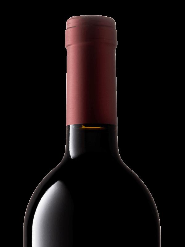Collo della bottiglia di vino rosso Cabernet IGT Colli Trevigiani prodotto da Cantina Barchessa Loredan a Volpago del Montello.