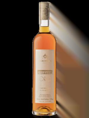 Bottiglia di Oro, vino bianco ottenuto da uve appassite, prodotto in sole 500 bottiglie.