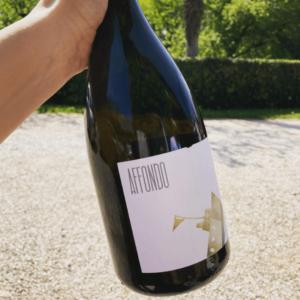 Bottiglia di vino bianco frizzante Affondo a rifermentazione naturale prodotto da Barchessa Loredan nella cantina di Selva del Montello.